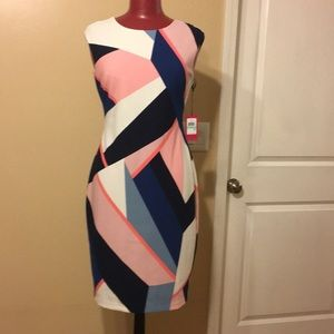 NWT Vince Camuto color block dress